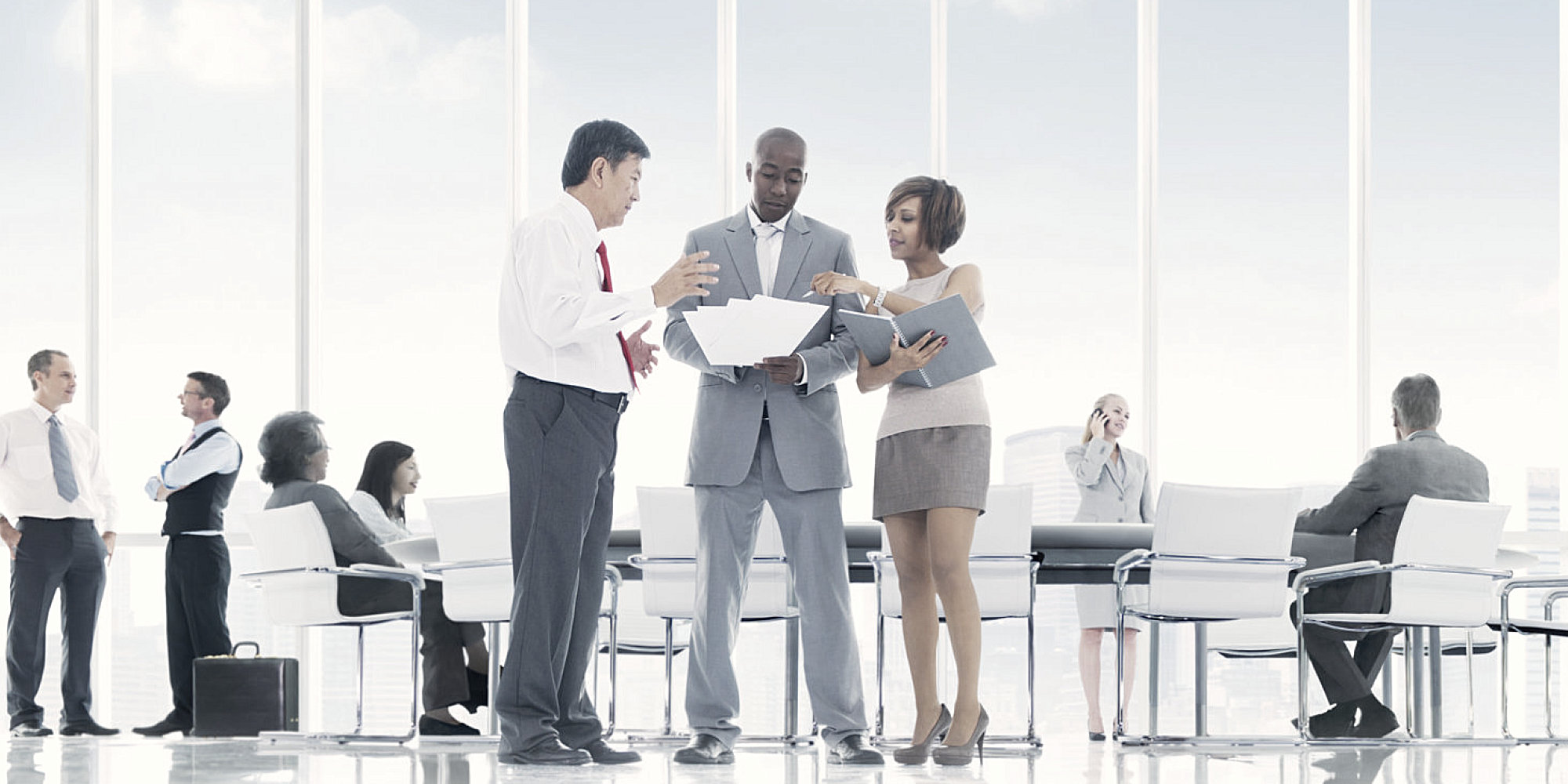 Business team discussing in the conference room